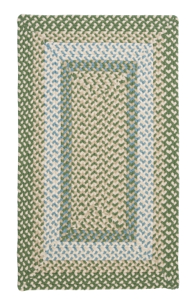 Colonial Mills Braided Rugs Montego Green 15529