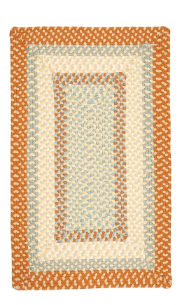 Colonial Mills Braided Rugs Montego Orange 15530