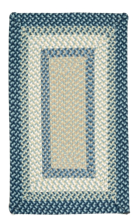Colonial Mills Braided Rugs Montego Blue 15532