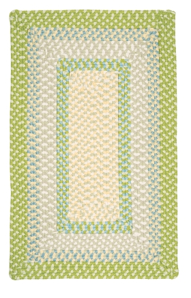 Colonial Mills Braided Rugs Montego Green 15533