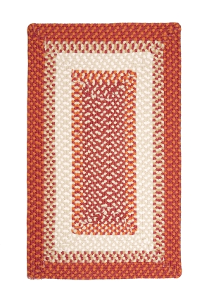 Colonial Mills Braided Rugs Montego Red 15534