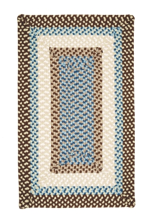 Colonial Mills Braided Rugs Montego Brown 15535