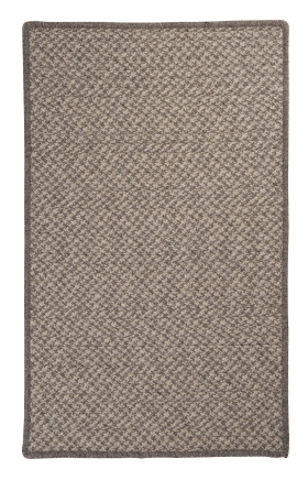 Colonial Mills Braided Rugs Natural Wool Houndstooth Gray 15537