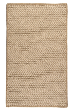 Colonial Mills Braided Rugs Natural Wool Houndstooth Gold 15538