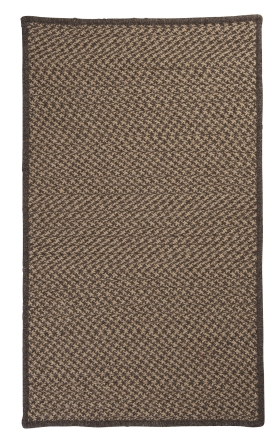 Colonial Mills Braided Rugs Natural Wool Houndstooth Brown 15539