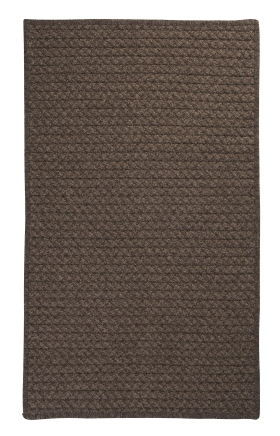 Colonial Mills Braided Rugs Natural Wool Houndstooth Brown 15540