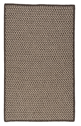 Colonial Mills Braided Rugs Natural Wool Houndstooth Brown 15541