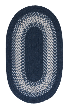 Colonial Mills Braided Rugs North Ridge Blue 15542
