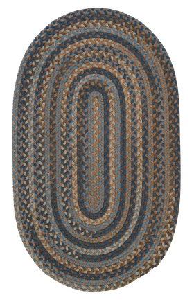 Colonial Mills Braided Rugs Oak Harbour Blue 15548