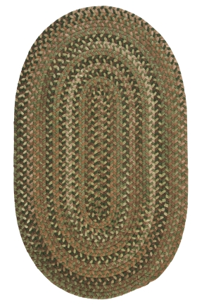 Colonial Mills Braided Rugs Oak Harbour Green 15549