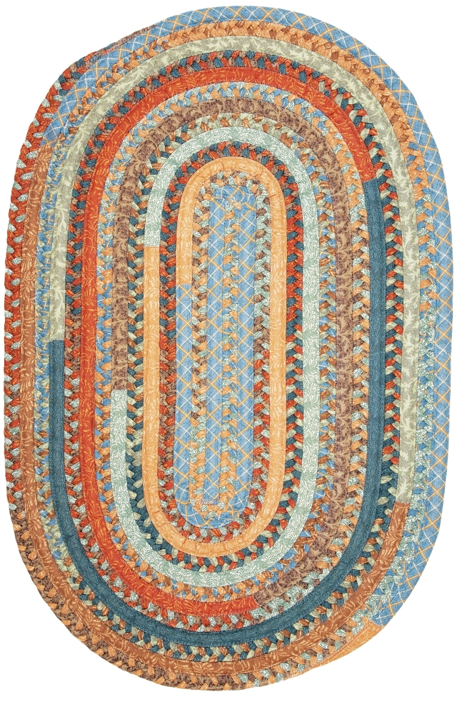 Braided Colonial Mills Rugs Olivera Multicolor Polyester 15555