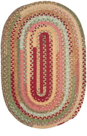 Colonial Mills Braided Rugs Olivera Multicolor 15556