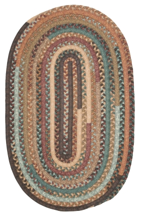 Colonial Mills Braided Rugs Olivera Multicolor 15558