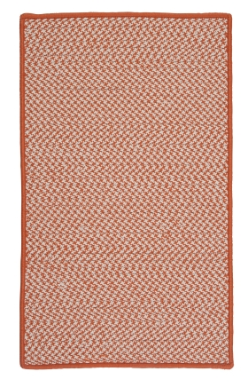 Colonial Mills Braided Rugs Outdoor Houndstooth Tweed Orange 15559