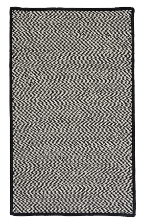 Colonial Mills Braided Rugs Outdoor Houndstooth Tweed Black 15560