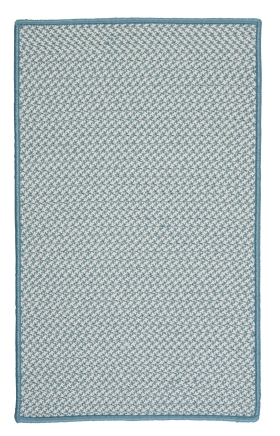 Colonial Mills Braided Rugs Outdoor Houndstooth Tweed Blue 15561