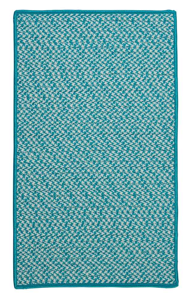 Braided Colonial Mills Rugs Outdoor Houndstooth Tweed Blue