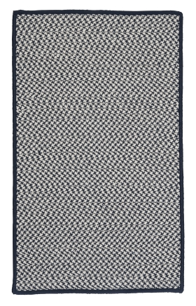 Colonial Mills Braided Rugs Outdoor Houndstooth Tweed Blue 15563