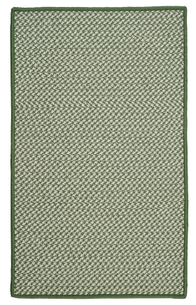 Colonial Mills Braided Rugs Outdoor Houndstooth Tweed Green 15564