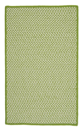 Colonial Mills Braided Rugs Outdoor Houndstooth Tweed Green 15565