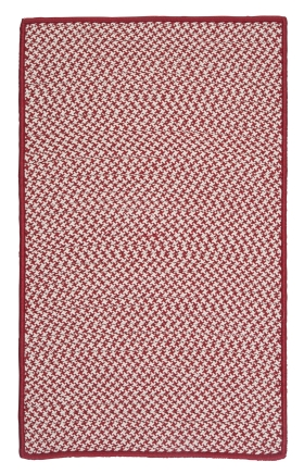 Colonial Mills Braided Rugs Outdoor Houndstooth Tweed Red 15566