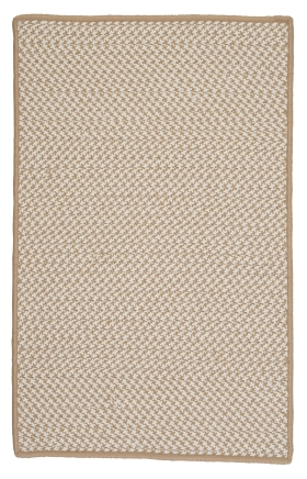 Colonial Mills Braided Rugs Outdoor Houndstooth Tweed Brown 15567
