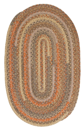 Colonial Mills Braided Rugs Print Party Ovals Brown 15574