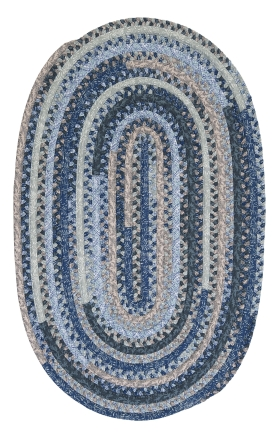 Colonial Mills Braided Rugs Print Party Ovals Blue 15575