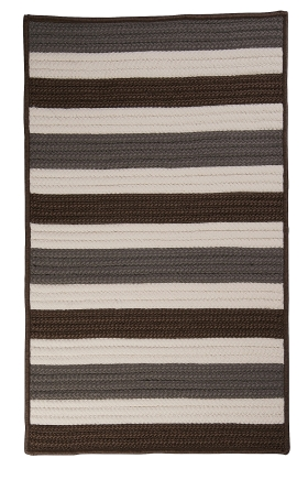 Colonial Mills Braided Rugs Portico Brown 15577