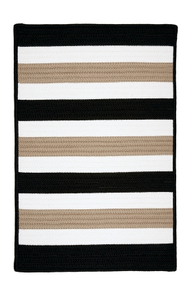 Colonial Mills Braided Rugs Portico Black 15578