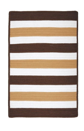 Colonial Mills Braided Rugs Portico Brown 15582