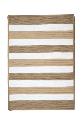 Colonial Mills Braided Rugs Portico Brown 15583