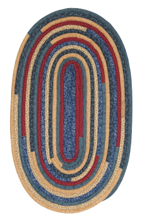 Colonial Mills Braided Rugs Quilters Choice Blue 15586