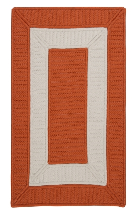Colonial Mills Braided Rugs Rope Walk Orange 15598