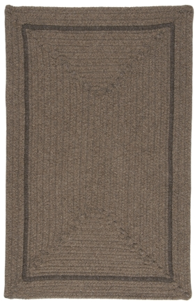 Colonial Mills Braided Rugs Shear Natural Brown 15640