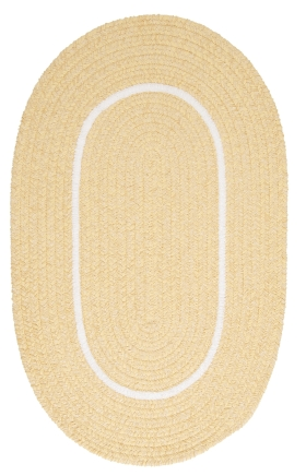 Colonial Mills Braided Rugs Silhouette Yellow 15645