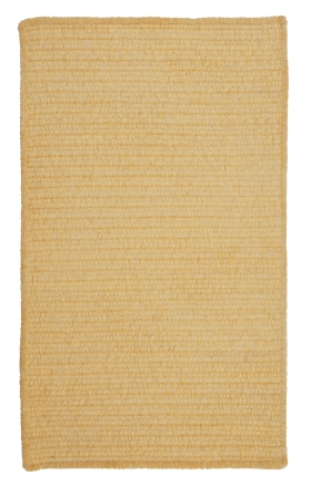 Colonial Mills Braided Rugs Simple Chenille Yellow 15651
