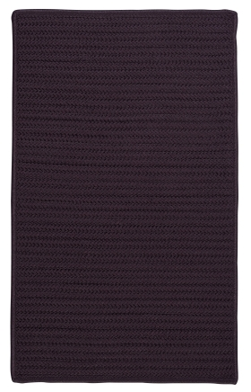 Colonial Mills Braided Rugs Simply Home Solid Purple 15683