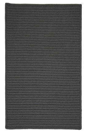 Colonial Mills Braided Rugs Simply Home Solid Gray 15699