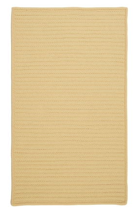 Colonial Mills Braided Rugs Simply Home Solid Yellow 15701