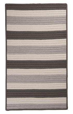 Colonial Mills Braided Rugs Stripe It Gray 15735