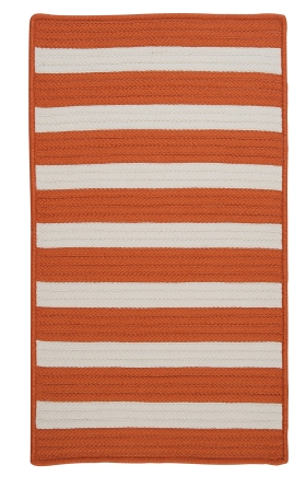 Colonial Mills Braided Rugs Stripe It Orange 15736