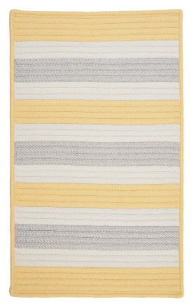 Colonial Mills Braided Rugs Stripe It Yellow 15738