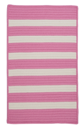 Colonial Mills Braided Rugs Stripe It Pink 15741
