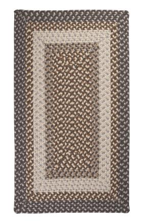 Colonial Mills Braided Rugs Tiburon Gray 15749