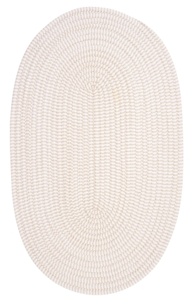 Colonial Mills Braided Rugs Ticking Stripe Oval Ivory 15753