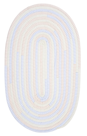 Colonial Mills Braided Rugs Ticking Stripe Oval Blue 15754