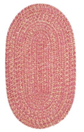 Colonial Mills Braided Rugs West Bay Pink 15779