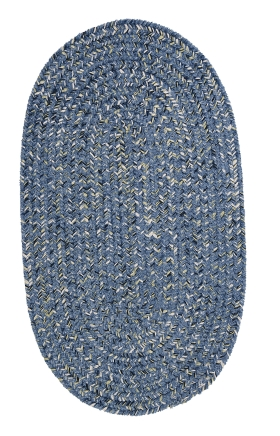 Colonial Mills Braided Rugs West Bay Blue 15781